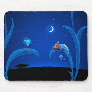 Alien and Chameleon Mouse Pad