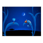 Alien and Chameleon Postcard
