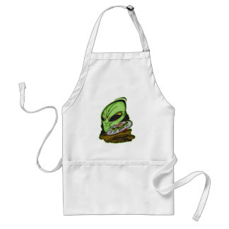 Alien and Flying Saucer UFO Adult Apron