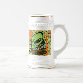 Alien and Flying Saucer UFO Coffee Mugs