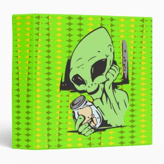 Alien and Human Baby Specimen 3 Ring Binder