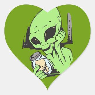 Alien and Human Baby Specimen Heart Sticker