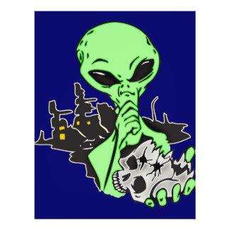 Alien and Human Skull Flyer