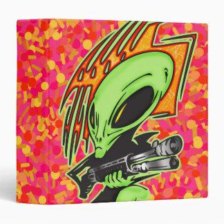 Alien And Laser Gun Binder