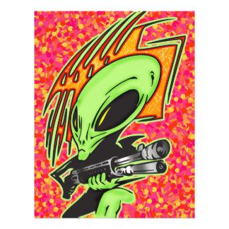 Alien And Laser Gun Flyer Design