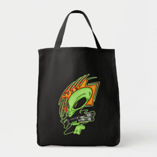 Alien And Laser Gun Tote Bag