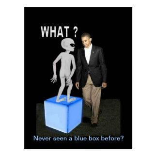 Alien and Obama Postcard