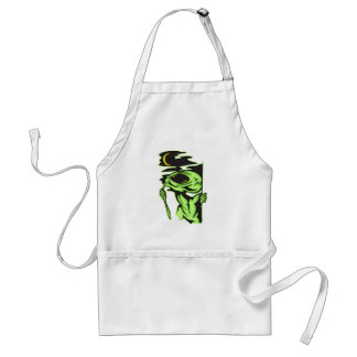 Alien and the Moon Aprons