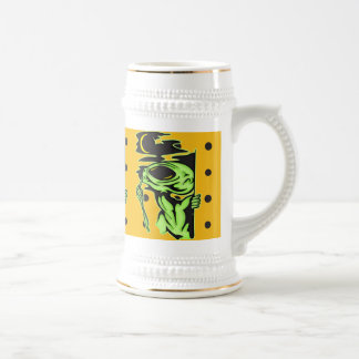 Alien and the Moon Beer Stein