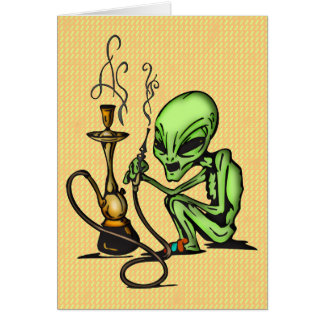 Alien and Water Pipe Card