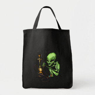 Alien and Water Pipe Tote Bag