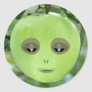 Alien Apple Stickers