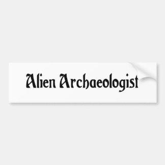 Alien Archaeologist Bumper Sticker Car Bumper Sticker