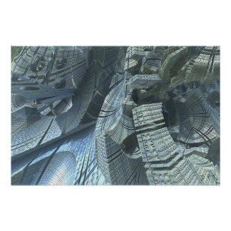 Alien Architecture Fractal Poster
