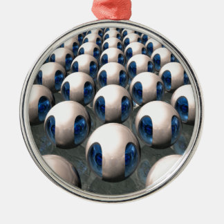 Alien Army Round Metal Christmas Ornament