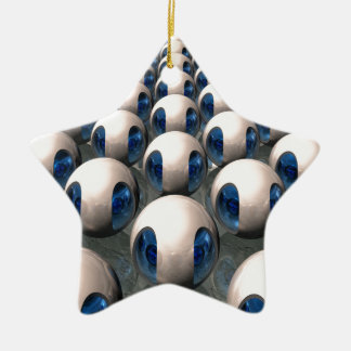 Alien Army Double-Sided Star Ceramic Christmas Ornament