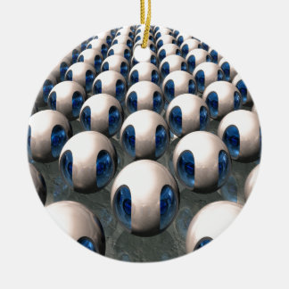 Alien Army Double-Sided Ceramic Round Christmas Ornament