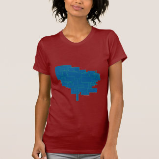 Alien art architecture squares abstract blue am1 T-Shirt
