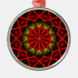 Alien Arteries Kaleidoscope Christmas Ornaments