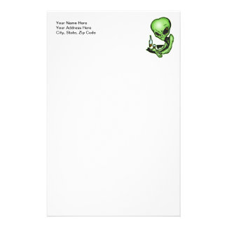 Alien At The Local Bar Stationery