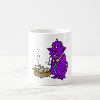 Alien ate my computer coffee mug