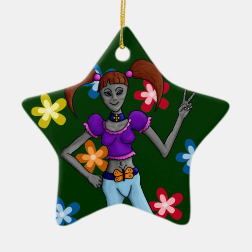 Alien-Ation: Hippy Chick Ornament Star