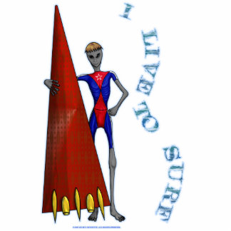 """Alien-Ation """"I Live To Surf"""" Photo Sculpture"""