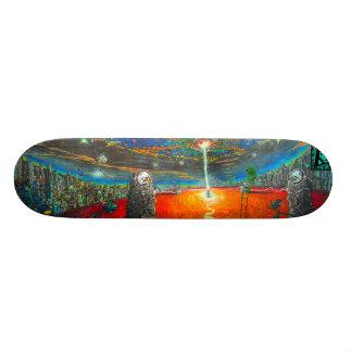 Alien Attack Street Art Skateboard