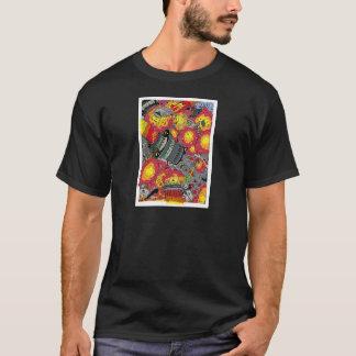 Alien Attacks Cartoon by Sam Backhouse T-Shirt