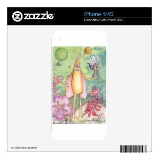 Alien Baby iPhone 4 Skins