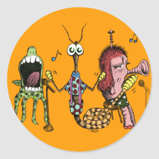 Alien Band Classic Round Sticker