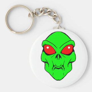 Alien Basic Round Button Keychain