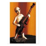 Alien Bass-ics for Zazzle.jpg Postcard