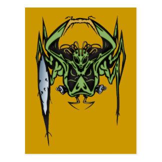 Alien Battle Post Card
