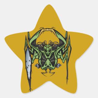 Alien Battle Star Sticker