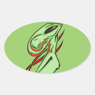 Alien Beauty Oval Sticker