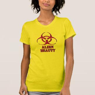 Alien Beauty shirt with biohazard symbol.