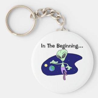 Alien Beginning Keychain