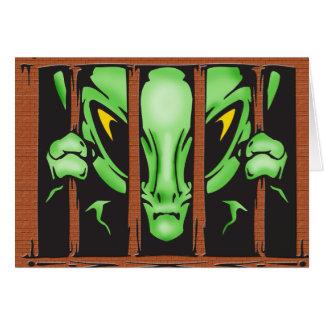 Alien Behind Bars Card
