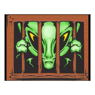 Alien Behind Bars Personalized Flyer