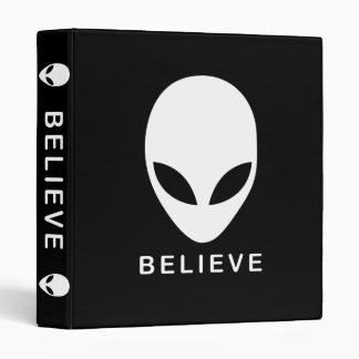 Alien Believe 3 Ring Binder
