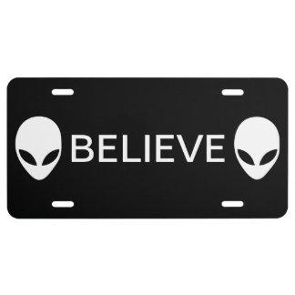 Alien Believe License Plate