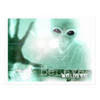 ALIEN BELIEVE POSTCARD