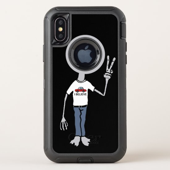 Alien Believer OtterBox Defender iPhone X Case