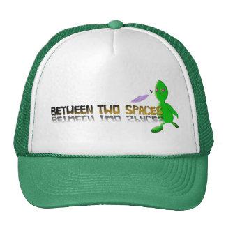 alien between 2 spaces trucker hat