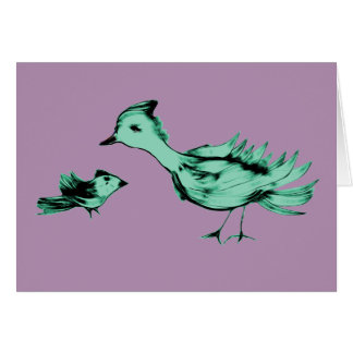 Alien Birds Card
