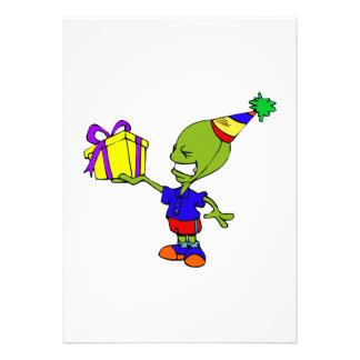 Alien Birthday Boy Custom Invitations