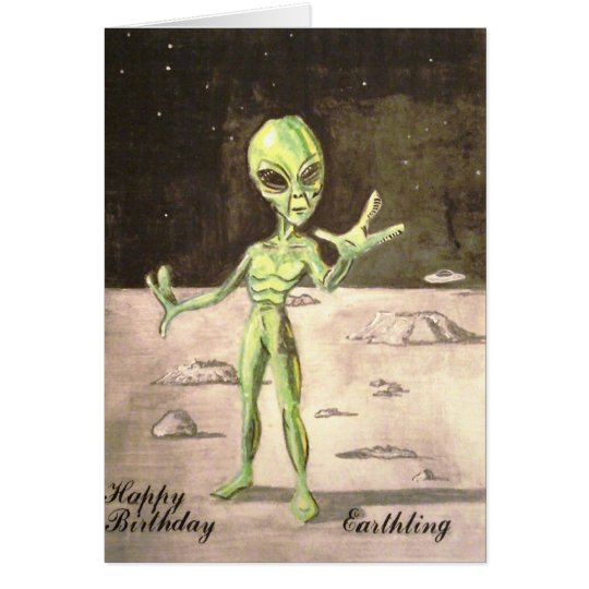 Alien Birthday card