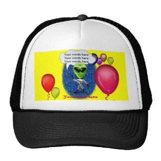 Alien Birthday Party Theme Mesh Hats