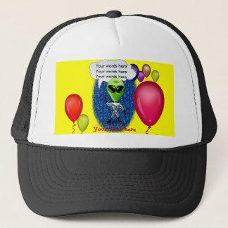 Alien Birthday Party Theme Trucker Hat